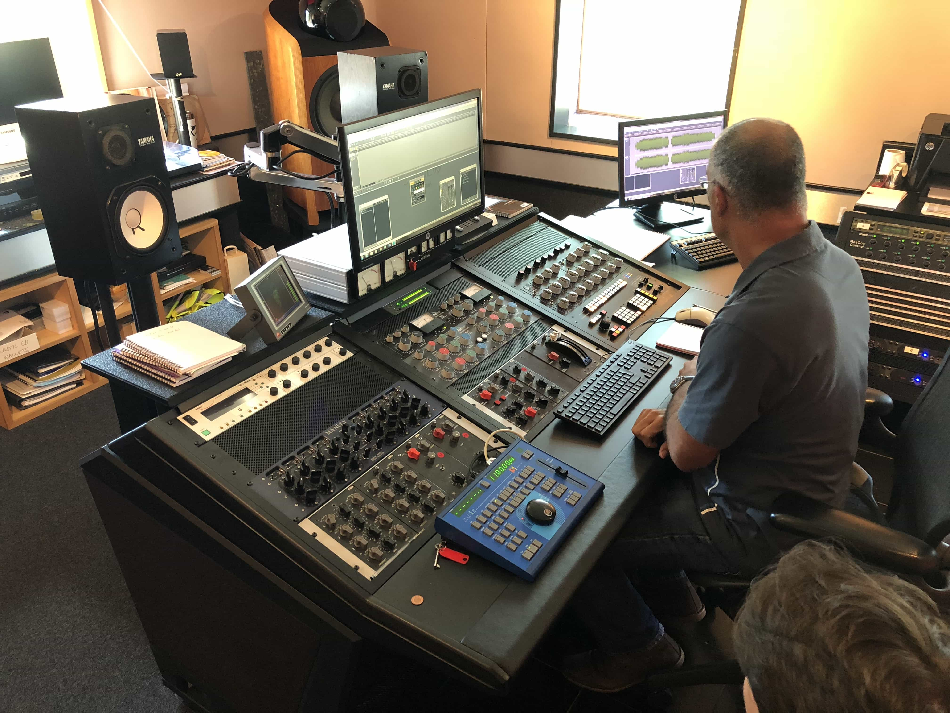Geoff Pesche at the EMI TG123410 mastering console