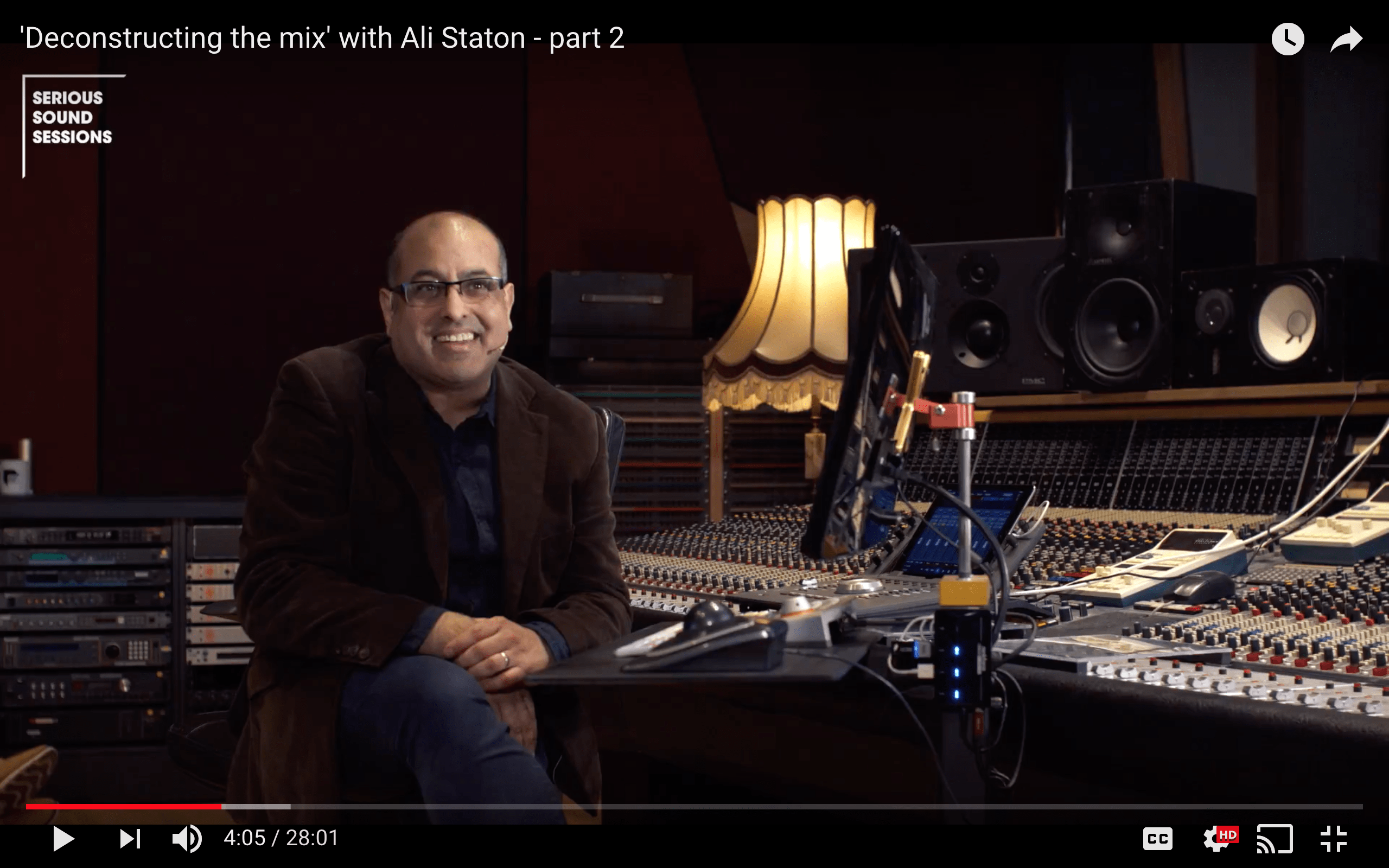 Deconstructing the mix with Ali Staton at Abbey Road Institute Amsterdam