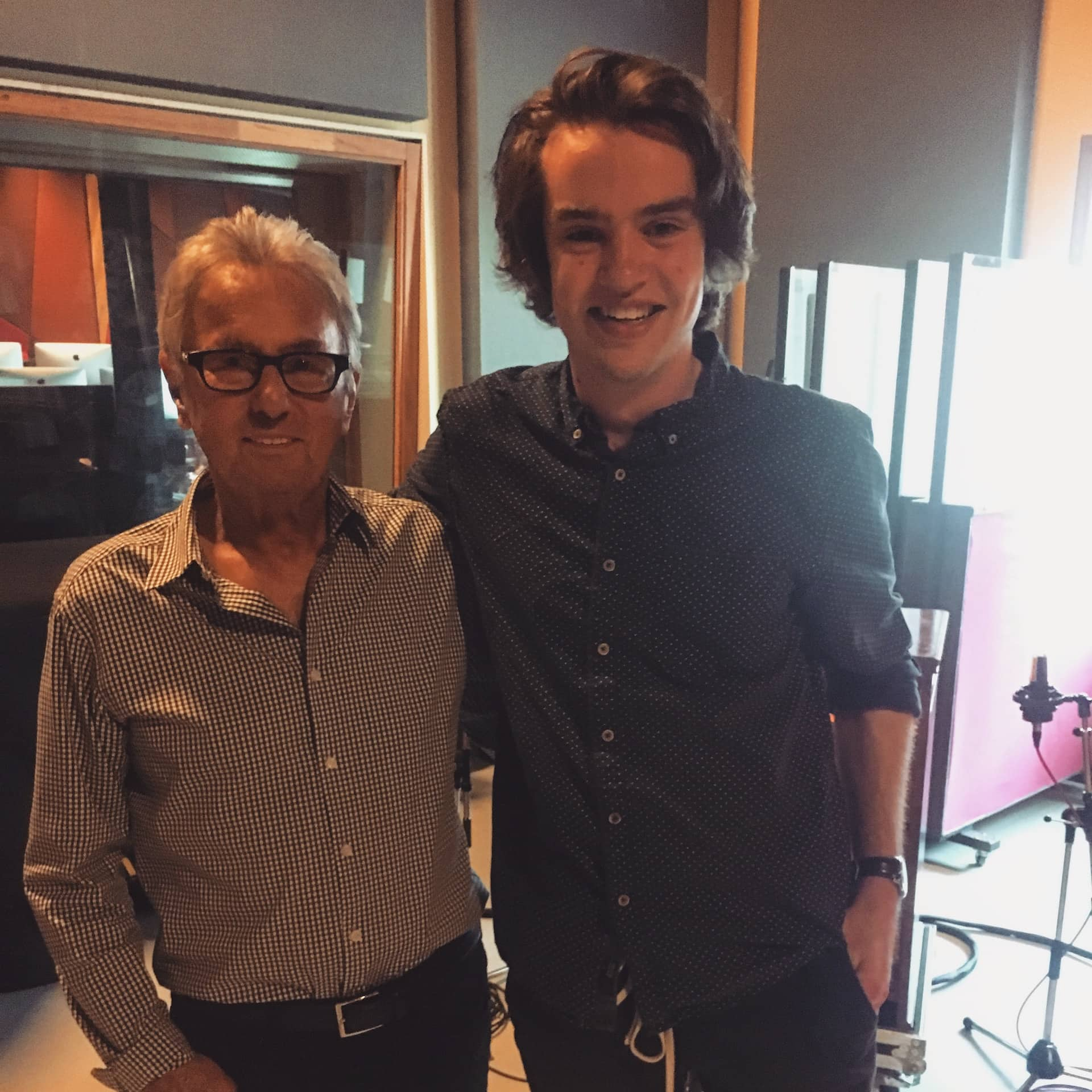 Al Schmitt and Abbey Road Institute student Ethan Frantz