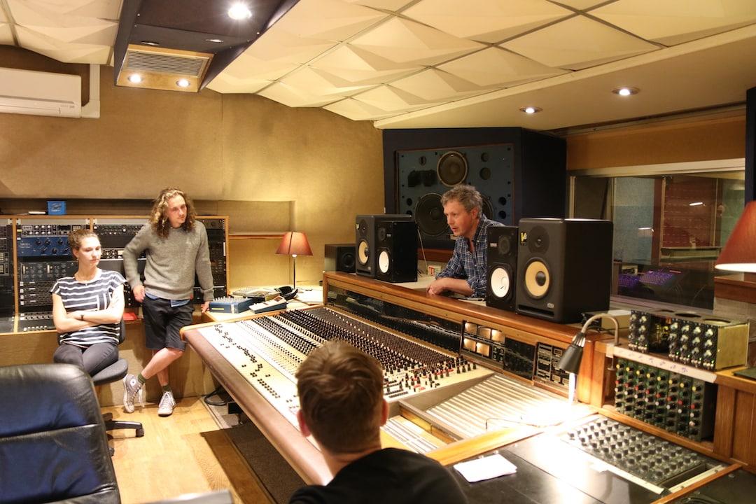 Engineer Matt Butler giving a masterclass at Rockfield Studio