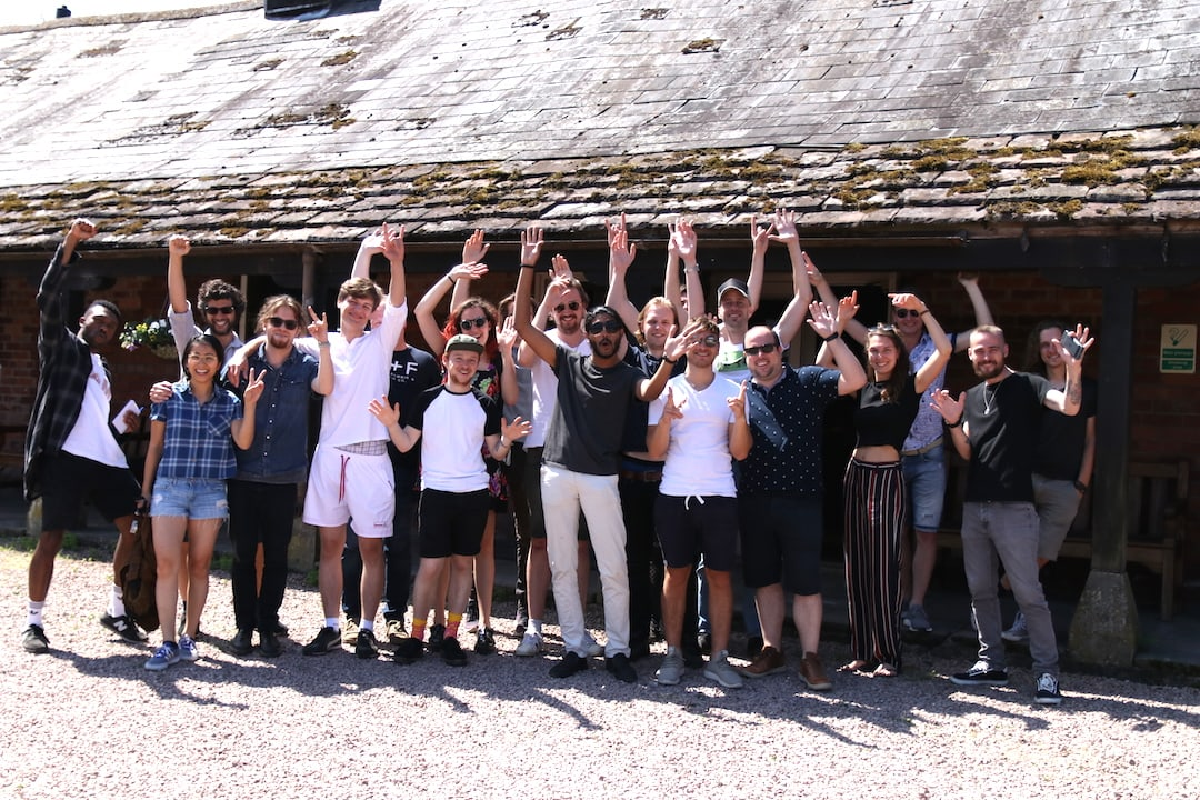 The whole bunch at Rockfield. It was a magical weekend.