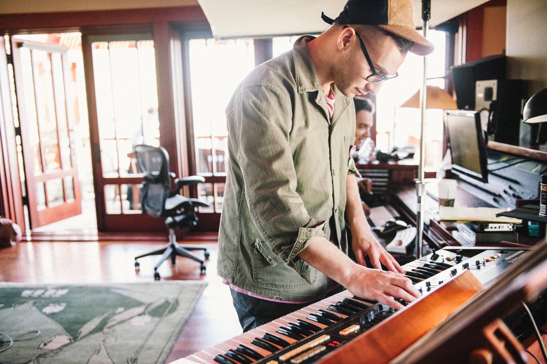 Jack Antonoff in his studio