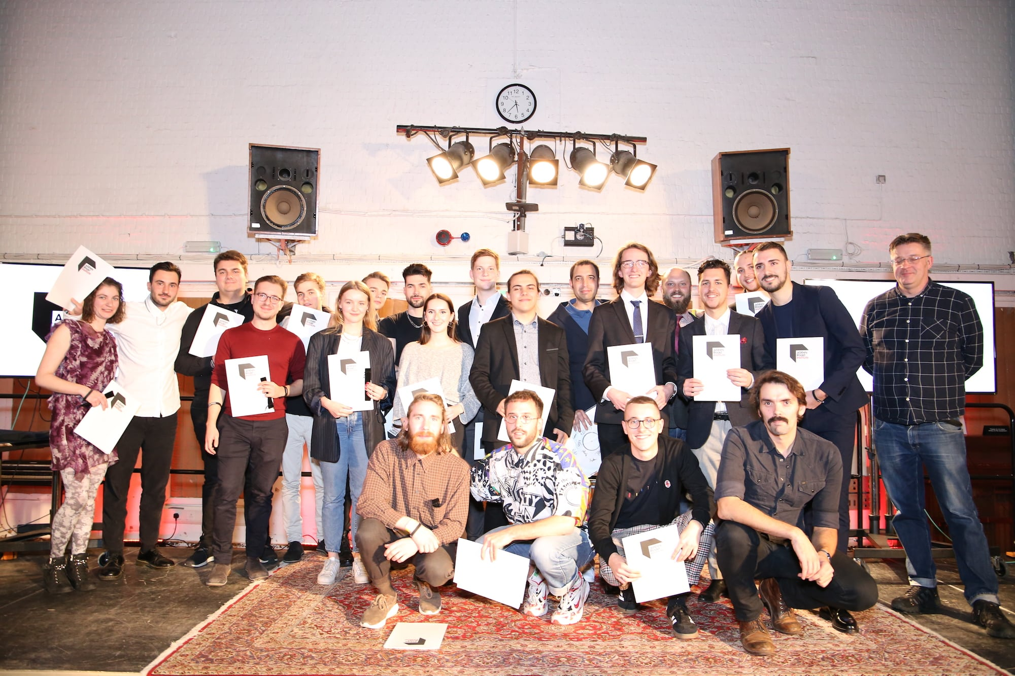 Group picture of the Abbey Road Institute Berlin students
